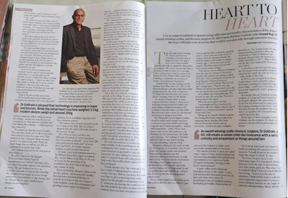 Heart to heart: An interesting article was published in fridaymagazine on May 20, 2019, written by Anand Raj OK